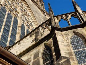 Gotische Sandsteinfassade