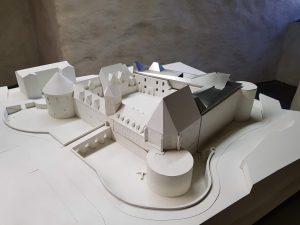 Modell der Moritzburg