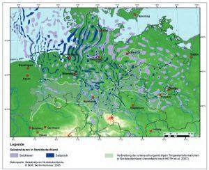 Salzstrukturen in Norddeutschland - Quelle BGR