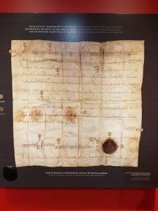 Urkunde Heinrich I. bestätigt Kloster Corvey Wahlrecht