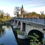 Saale Brücke unter dem Schloss